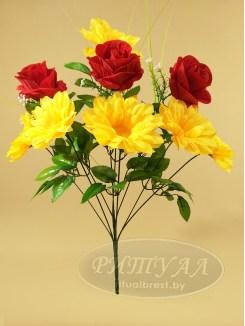 Астра с бархатной розой РЕДЖИНА