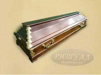 Гроб деревянный лакированный