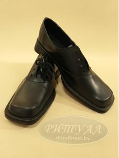 Туфли мужские, литая подошва, кожзам